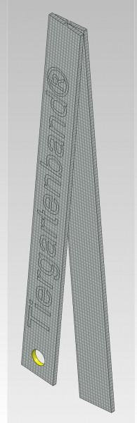 zusätzliche Erdanker fest, 2x 20x3...Länge wählen mm